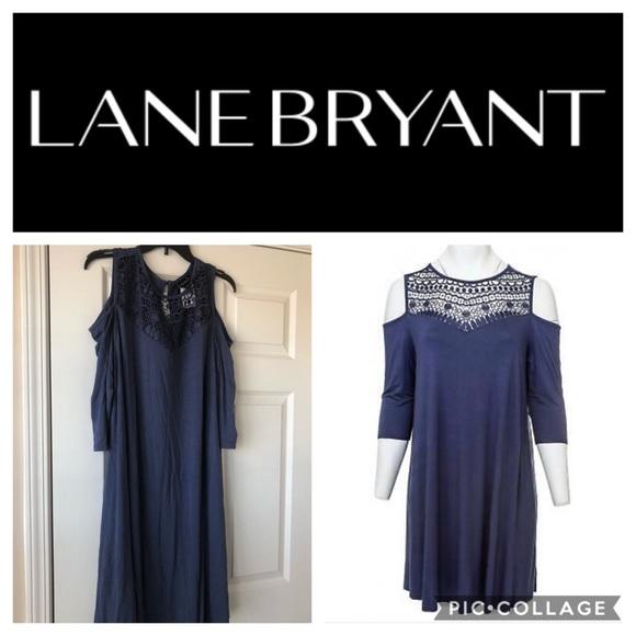 Lane Bryant crochet purple One Shoulder dress size 22//24 casual knee length